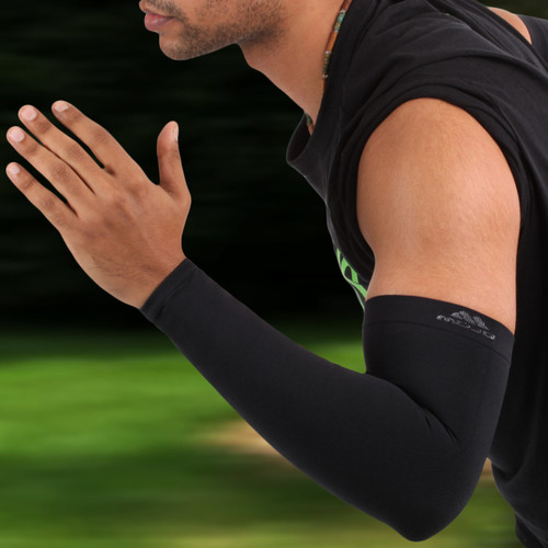 Mojo Compression Arm Sleeves are perfect for basketball, baseball, running & outdoor activities.  Sized for both Men & Women, they offer 99% UV Protection and help protect arms from abrasions blisters.