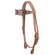 BROWN CROC HEADSTALL
