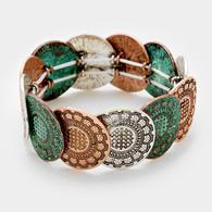 Tribal Metal Stretch Bracelet