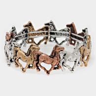 Metal horse running link bracelet