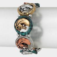 Metal Round Horse Head Bracelet