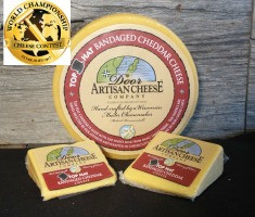 Top Hat Cheddar slices and wheel