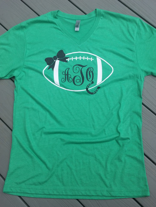 Personalized Football Vneck Shirt - Unisex