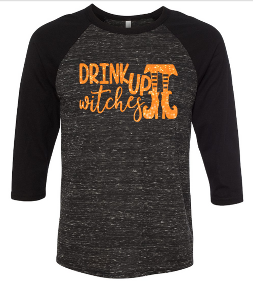 Drink Up Witches - Halloween Shirt - Funny Halloween Shirt - Womens Clothing - Wine Shirt