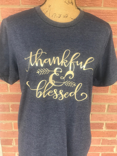 Thankful & Blessed Shirt - Thankful Tee - Blessed - Blessed Shirt - Thankful Shirt