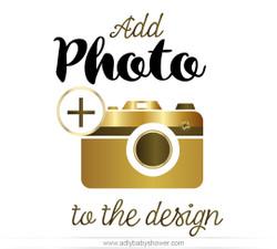 Add a Photo Customization Update (to any invitation design)