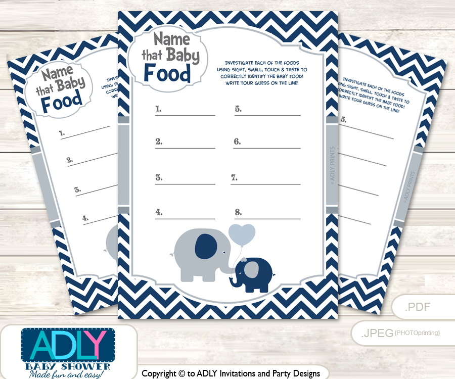 Boy Peanut Guess Baby Food Game Or Name That Baby Food Game For A Baby  Shower