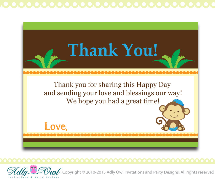 thank you note for baby shower