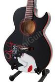 Miniature Acoustic Guitar KISS Paul Stanley