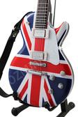 Miniature Guitar United Kingdom Flag LP