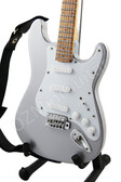 Miniature Guitar Metallic Silver Color