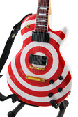Miniature Guitar Zakk Wylde Red & White BULLSEYE