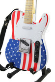 Miniature Guitar USA Flag