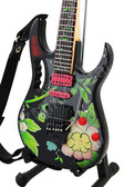 Miniature Guitar STEVE VAI Flower Cut Out II
