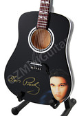 Miniature Acoustic Guitar Elvis Presley Black