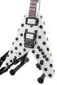 Miniature Guitar RANDY RHOADS Polka Dot V White