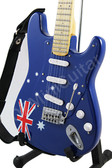 Miniature Guitar AUSTRALIA Flag