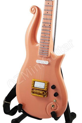 prince miniature mini guitar cloud peach - gold