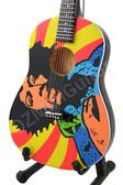 Miniature Acoustic Guitar Jimi Hendrix