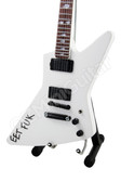 Miniature Guitar James Hetfield EET FUK White Explorer