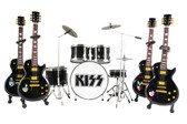 KISS Les Paul Miniature Guitars and Drum Mega Set