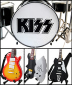 KISS Axe Miniature Guitars and Drum Mega Set