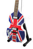 Miniature Bass Guitar Paul McCartney THE BEATLES Hofner Union Jack