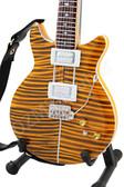 Miniature Guitar Carlos Santana PRS Tiger Eye