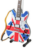 Miniature Guitar OASIS Noel Gallagher Union Jack Epiphone