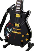 Miniature Guitar Gene Simmons KISS Black Les Paul