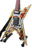 Miniature Guitar Dean USA Razorback Tribute RUST