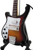 Miniature Guitar Paul McCartney THE BEATLES Bass Maple Glo