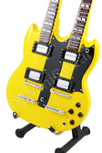 Miniature Guitar Zakk Wylde DOUBLE NECK Yellow