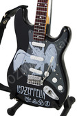 Miniature Guitar Art Series Led Zeppelin Black