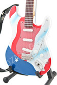 Miniature Guitar Joe Perry Aerosmith American Flag