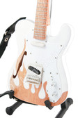 Miniature Guitar 1969 Thinline Flame Tele White