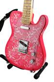 Miniature Guitar Pink Paisley Telecaster