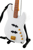 Miniature Bass Guitar White