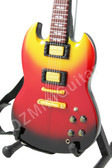 Miniature Guitar Gibson SG Supreme Fireburst