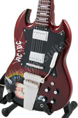 Miniature Guitar Art Series Angus Young AC/DC Signature