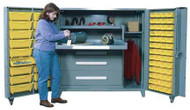1102 Lyon All Welded Cabinet with Modular Drawers and Tilt-Bins