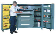1103 Lyon All Welded Cabinet with Modular Drawers and Tilt-Bins