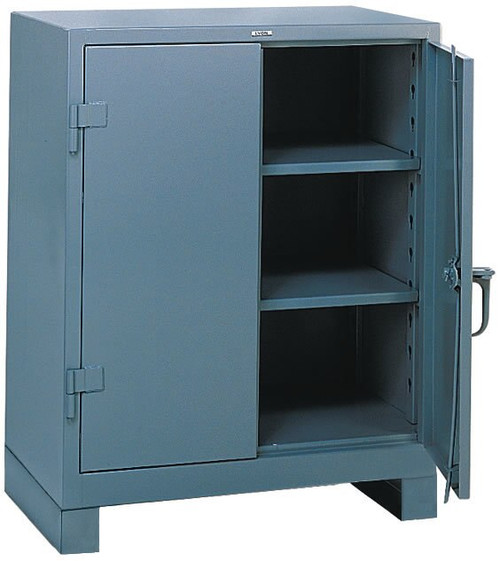 1110 lyon heavy duty storage cabinet counter high industrialshelving