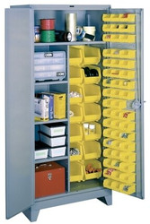 1122 Lyon All Welded Combination-Bin Cabinet