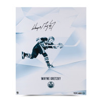 WAYNE GRETZKY Signed Clarity Photo LE of 199 UDA.
