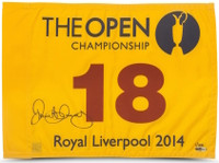 RORY McILROY Autographed 2014 British Open Flag UDA LE 100