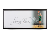 "LARRY BIRD AUTOGRAPHED ""THE SHOW"" 46 X 20 FRAMED UDA"