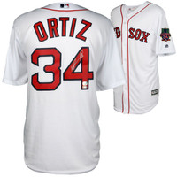 DAVID ORTIZ Autographed Boston Red Sox Retirement Jersey FANATICS