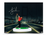 "TIGER WOODS AUTOGRAPHED ""THE BRIDGE AT NIGHT"" 16 X 20 UDA LE 50"