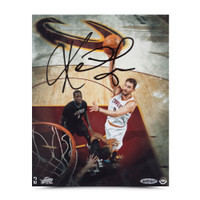 KEVIN LOVE Autographed Over the Top Photo UDA